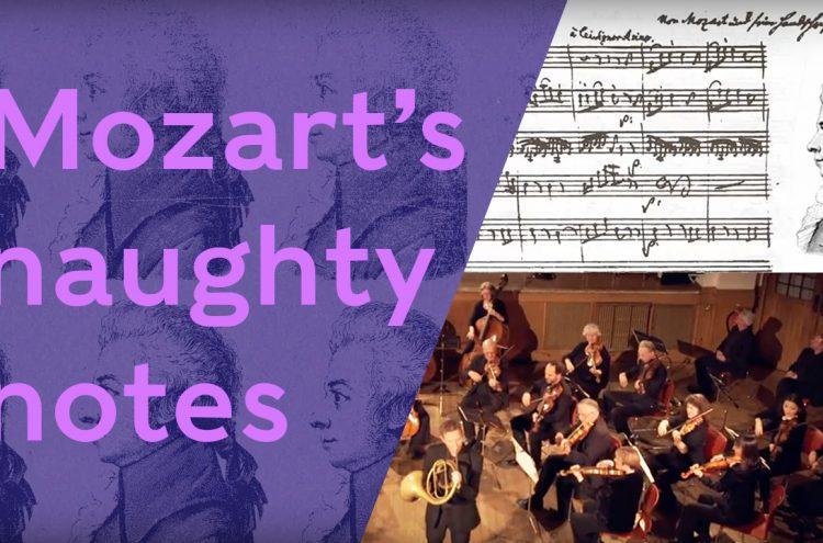 Mozart's Naughty Notes