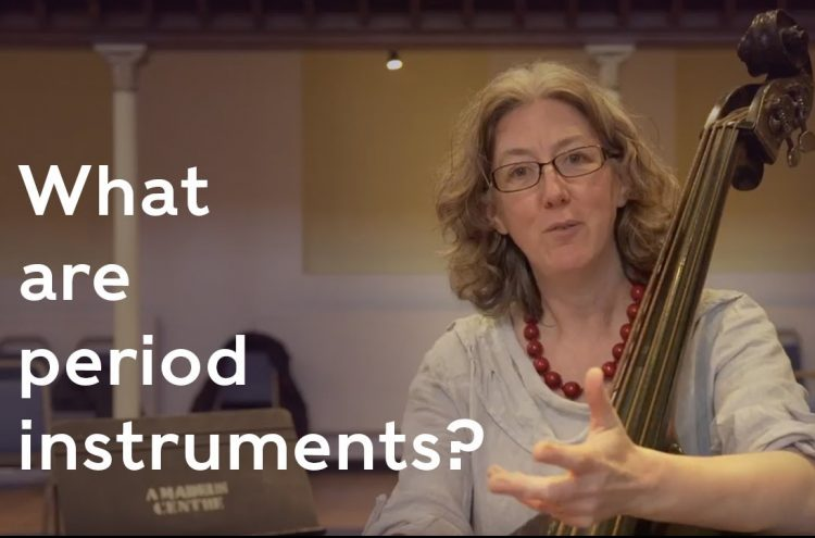 Double bass Cecelia Bruggemeyer explains what period instruments are and why we play them.