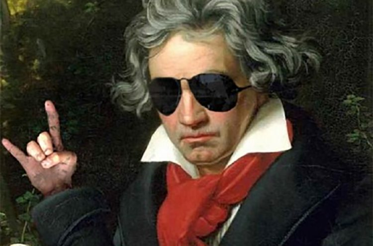 Beethoven with sunglasses