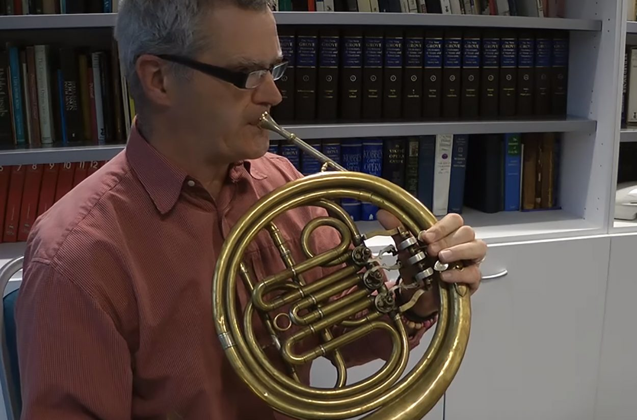 Horn player Martin Lawrence discusses the difference between the natural and the valved horn
