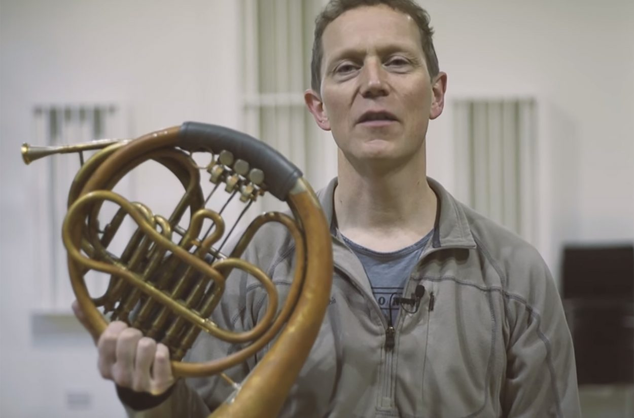 Principal Horn Roger Montgomery on the horns in Mahler 2