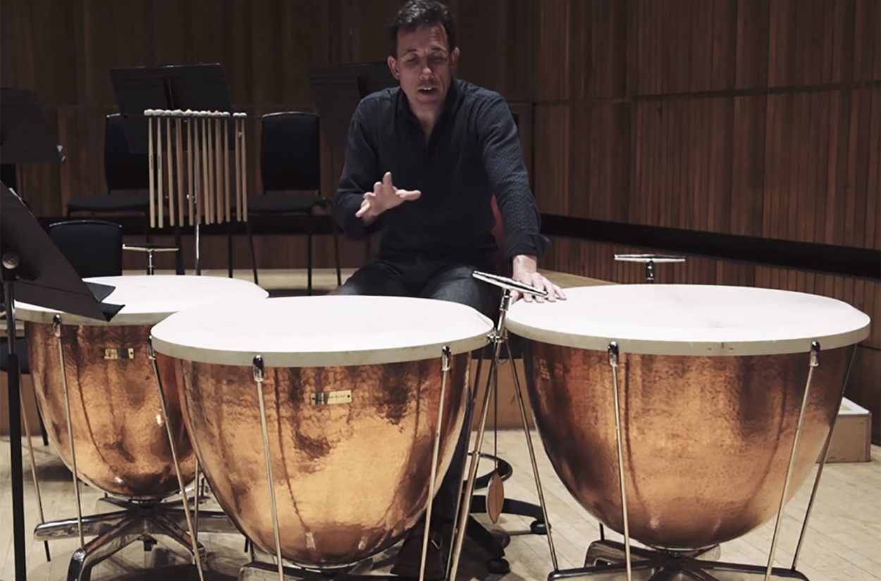 Principal timpani Adrian Bending introduces us to his new Schnellar timpani