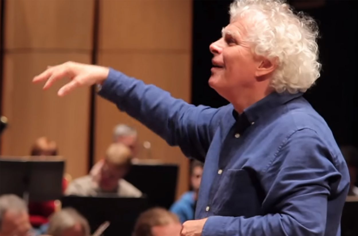 Sir Simon Rattle rehearses Haydn's Creation