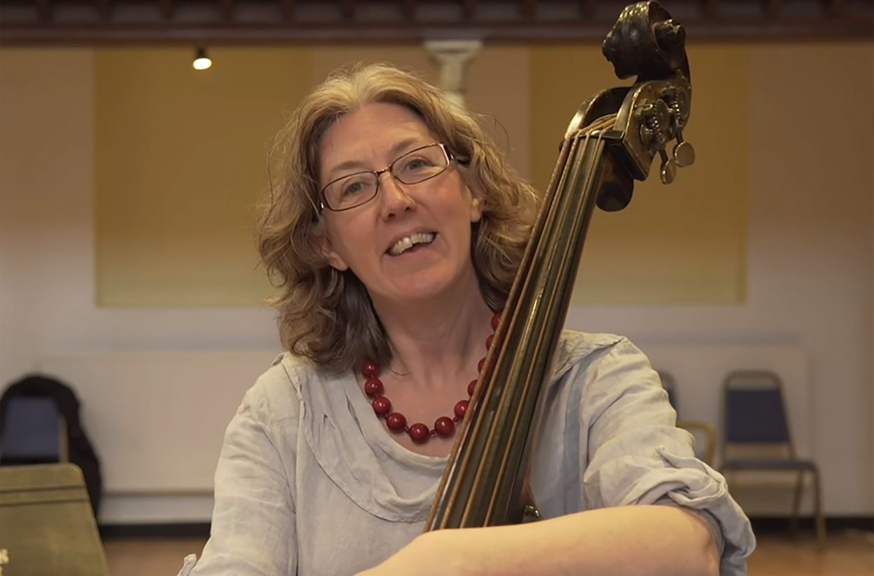 Double bass Cecelia Bruggemeyer explains what period instruments are