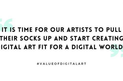 Digital art must be left to digital artists
