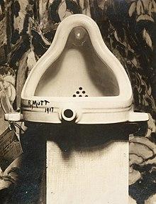 Marcel Duchamp's Fountain, 1917 (Photograph Alfred Stieglitz / Public Domain)